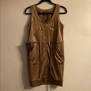 Bebe sleeveless pocket dress Small NWT